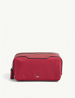 ANYA HINDMARCH: Girlie Stuff bow-embellished recycled-shell pouch