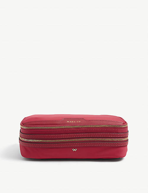 ANYA HINDMARCH: Make-Up recycled-nylon makeup bag