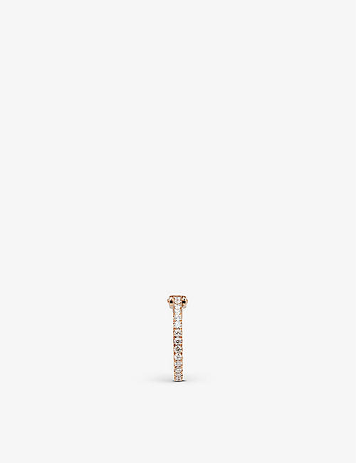 MESSIKA: Gatsby 18ct rose-gold and 0.15ct diamond single earring