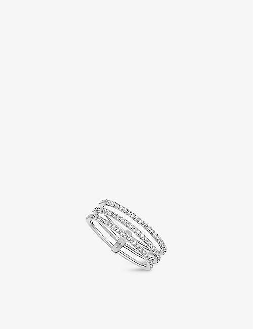 MESSIKA: Gatsby 18ct white-gold and diamond ring