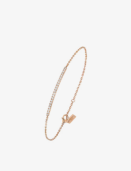 MESSIKA: Gatsby 18ct rose-gold and diamond bracelet