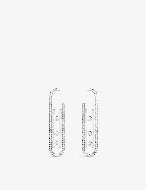 MESSIKA: Move 10th 18ct white-gold and diamond earrings