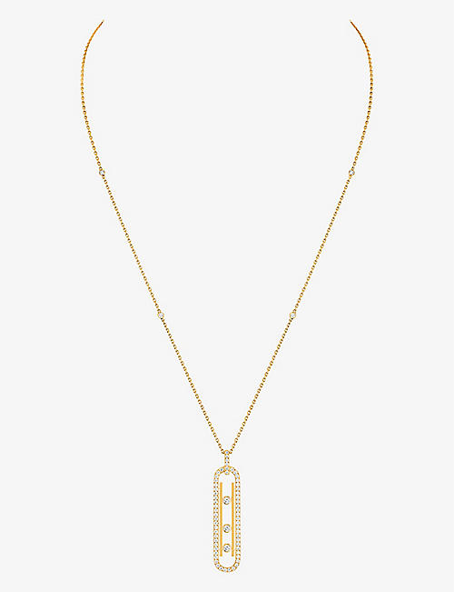 MESSIKA: Move 10th 18ct yellow-gold and diamond necklace