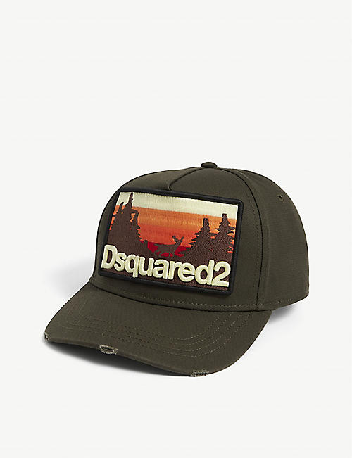 DSQUARED2 ACC: Skyline brand-embroidered cotton baseball cap