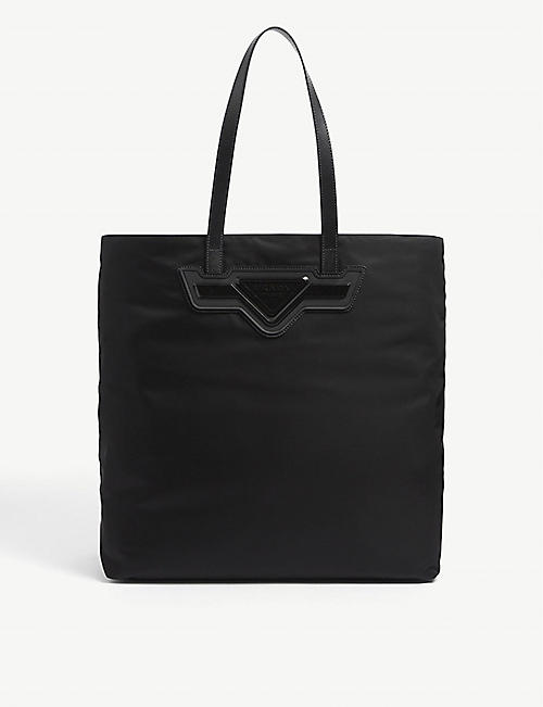 PRADA: Brand-plaque large nylon tote