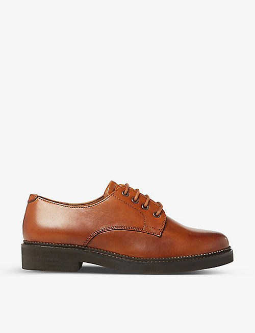 BERTIE: Fill leather derby shoes
