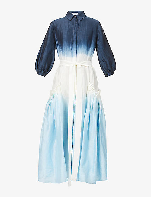 GABRIELA HEARST: Cervantes recycled-linen and recycled-silk blend maxi dress