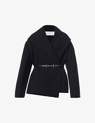 GABRIELA HEARST: Harris wrap-over recycled-cashmere coat