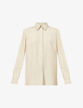 GABRIELA HEARST: Cruz recycled-silk and recycled-wool blend shirt