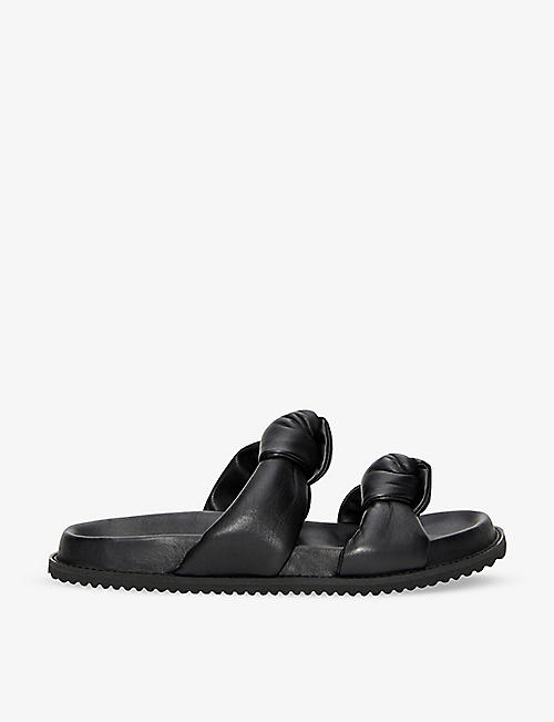 CLAUDIE PIERLOT: Open-toe knotted leather sandals