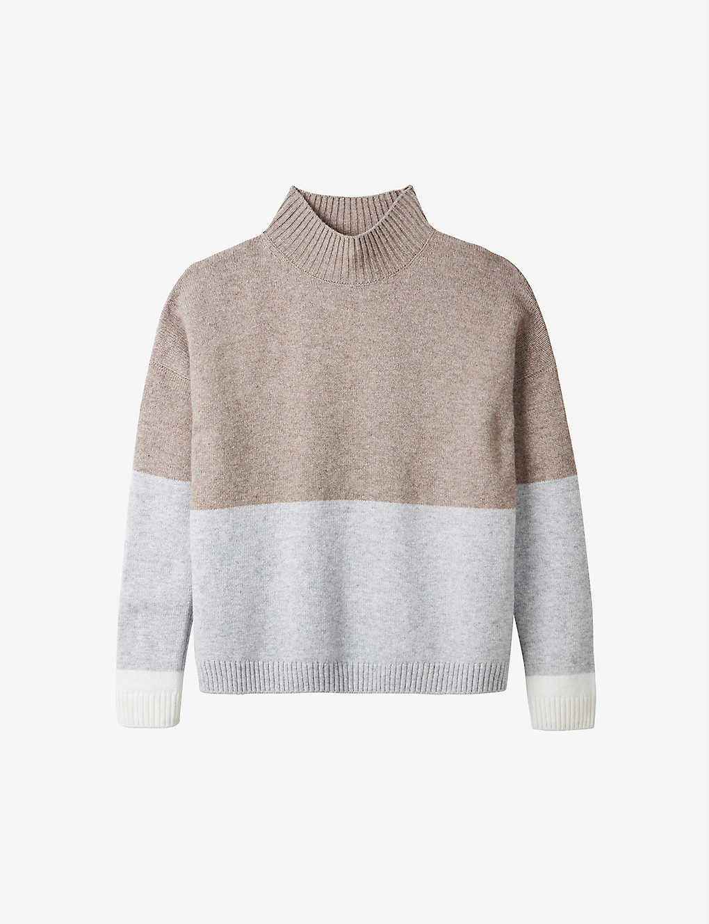THE WHITE COMPANY: Colour-block wool and cashmere-blend jumper