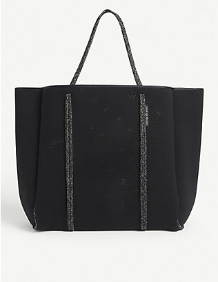 STATE OF ESCAPE: Cityscape neoprene tote bag