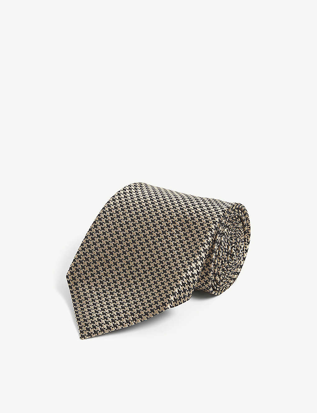 TOM FORD: Houndstooth silk tie