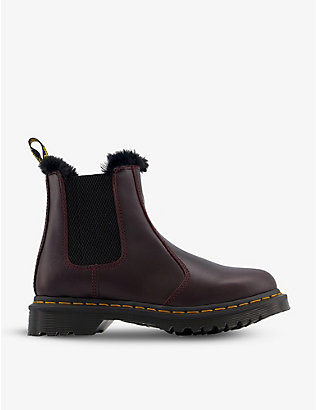 DR. MARTENS: 2976 Leonore faux fur-lined leather boots