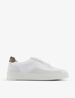 FILLING PIECES: Mondo Ripple DCT leather and suede low-top trainers