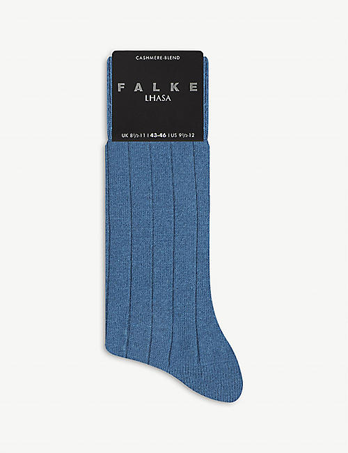 FALKE: Lhasa ribbed wool and cashmere-blend socks
