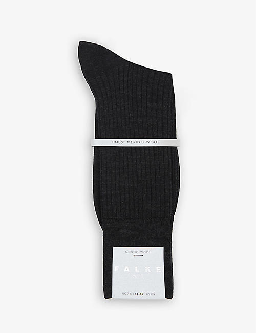 FALKE: No.7 ribbed wool-blend socks