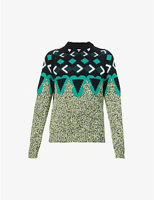 PRADA: Argyle wool and cashmere-blend jumper