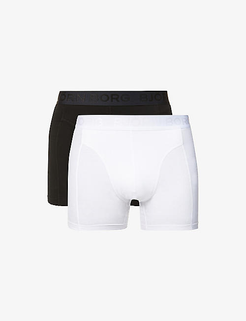BJORN BORG: Sammy stretch-cotton trunks pack of two