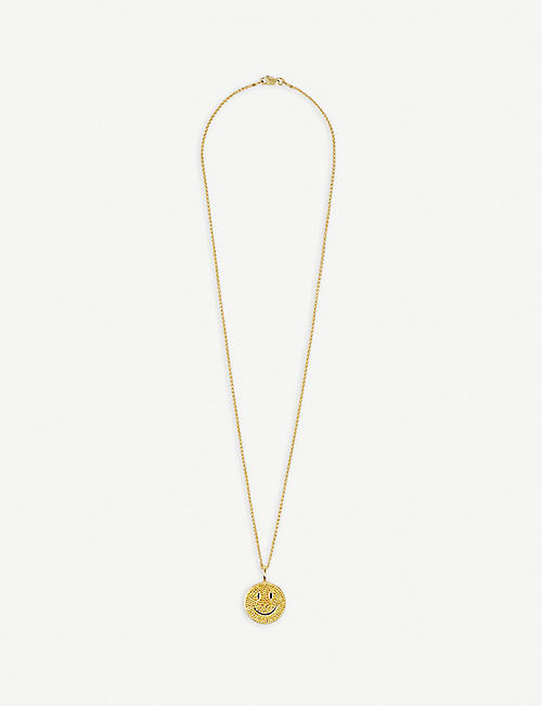 HATTON LABS: Hatton Labs x Chinatown Market Smiley gold-plated sterling-silver pendant necklace