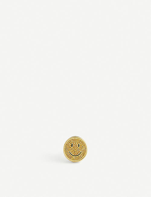 HATTON LABS: Hatton Labs x Chinatown Market Smiley gold-tone sterling silver signet ring