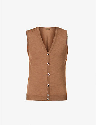 STENSTROMS: V-neck wool vest