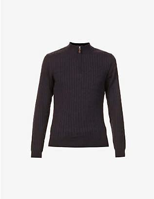 STENSTROMS: High-neck cable-knit wool jumper