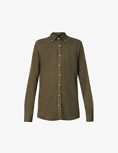 STENSTROMS: Long-sleeved regular-fit cotton shirt