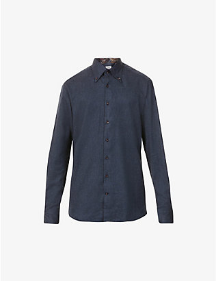 STENSTROMS: Long-sleeved slim-fit cotton shirt