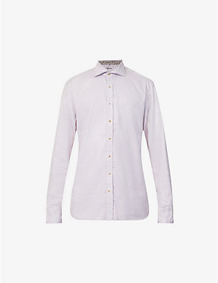STENSTROMS: Geometric-pattern regular-fit cotton shirt