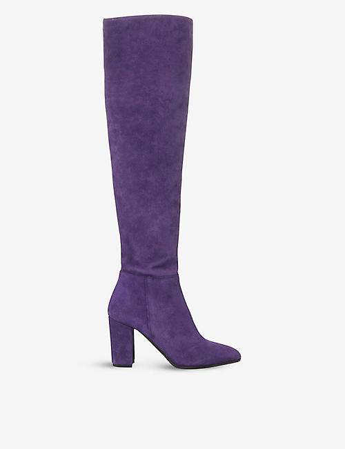 DUNE: Selsie over-the-knee suede boots