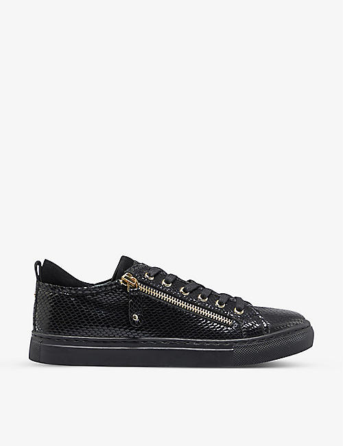 DUNE: Elicia leather low-top trainers