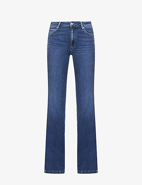 PAIGE: Genevieve flared high-rise jeans
