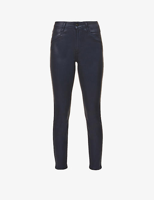 PAIGE: Hoxton skinny high-rise faux-leather jeans