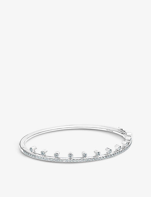 DE BEERS: Dewdrop 18ct white-gold and diamond bracelet