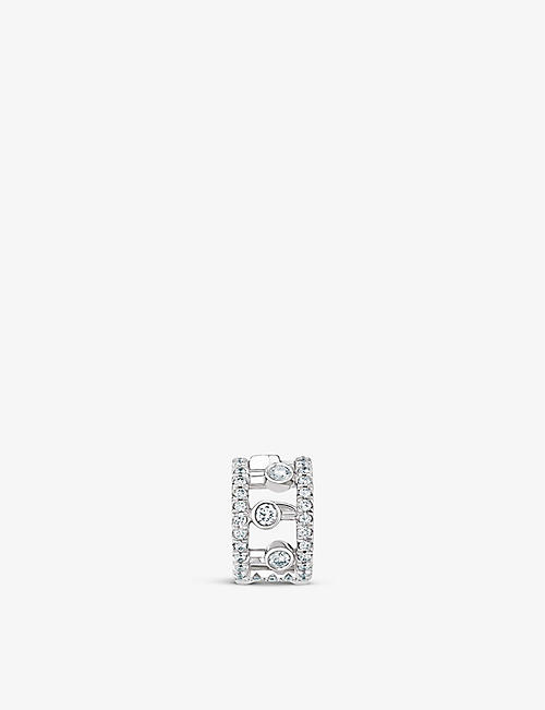 DE BEERS: Dewdrop 18ct white-gold and diamond ear cuff