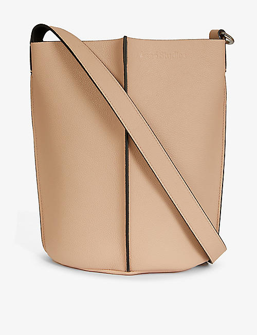 ACNE STUDIOS: Market logo-embossed leather bucket bag