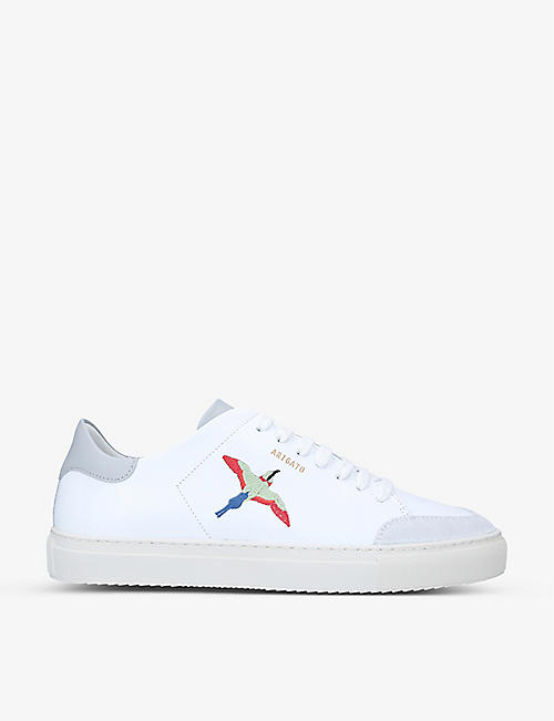 AXEL ARIGATO: Clean 90 bird-embroidered leather trainers