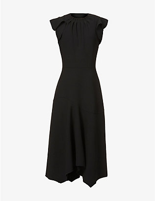ELEVENTY: Cap-sleeved stretch-woven midi dress