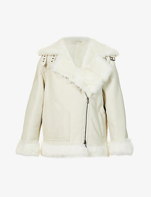 ELEVENTY: Long-sleeved shearling jacket