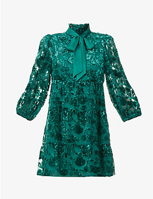 ALICE & OLIVIA: Octavia jacquard mini dress