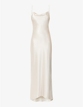 ALICE & OLIVIA: Harmony satin maxi dress
