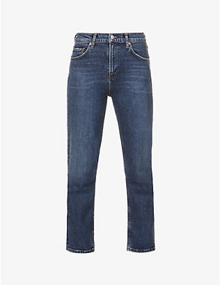 AGOLDE: Wilder straight-leg mid-rise organic cotton-blend denim jeans