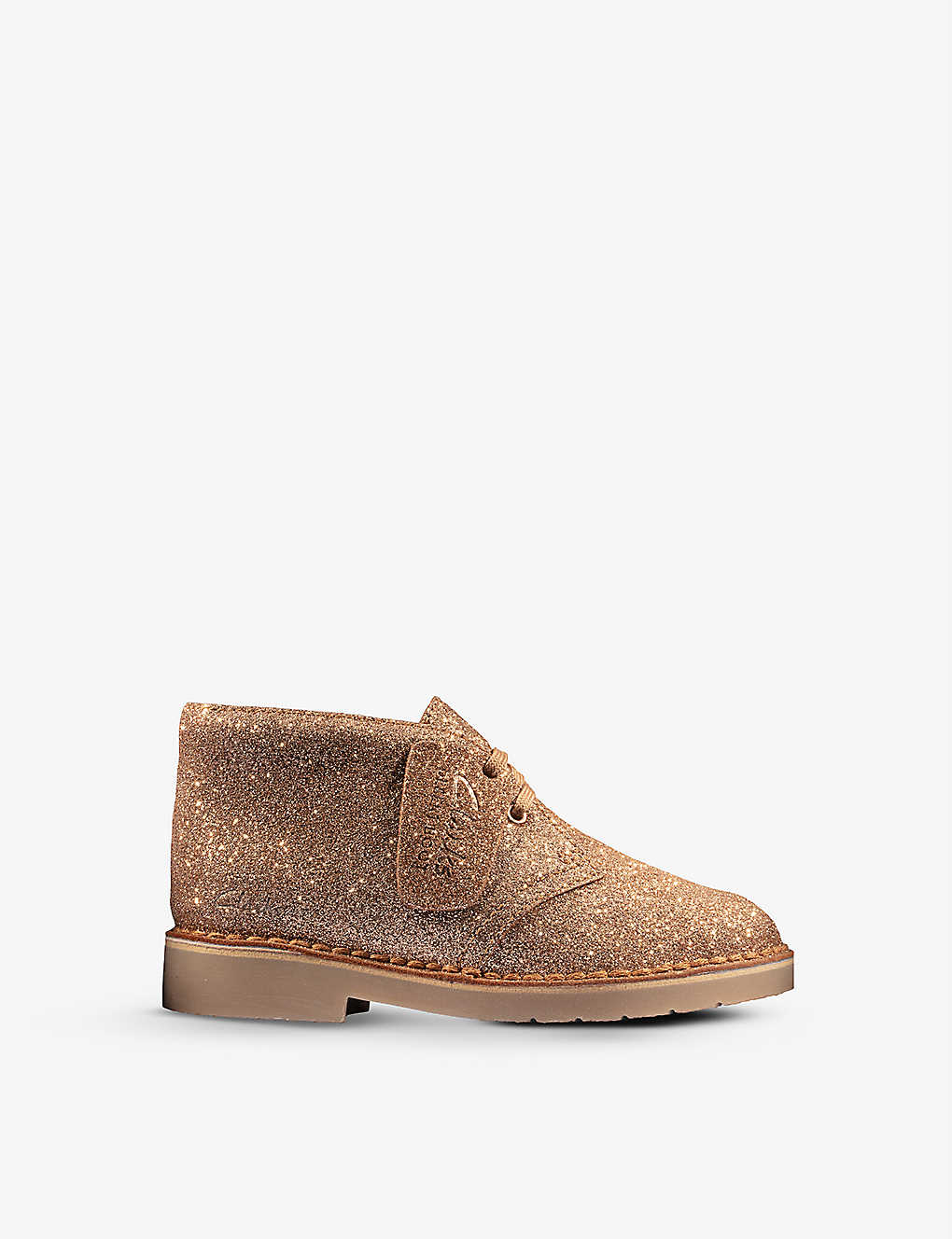 CLARKS: Desert Boot 2 glitter leather boots 5-8 years