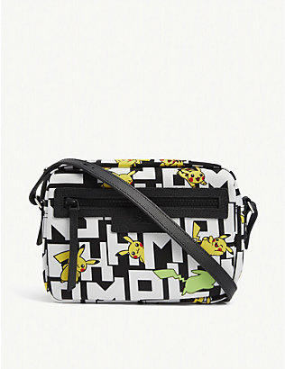 LONGCHAMP: Longchamp x Pokémon Le Pliage Pikachu-print nylon cross-body bag