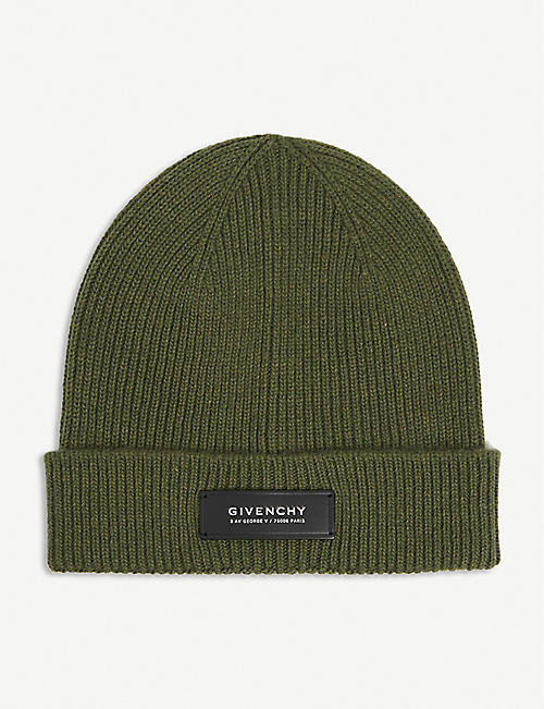 GIVENCHY: Ribbed wool and cashmere-blend beanie