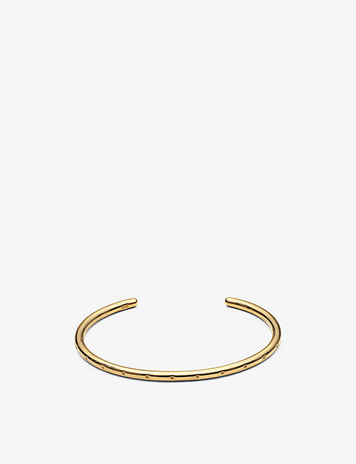 RACHEL JACKSON: Star Studded 22ct yellow gold-plated sterling silver bangle