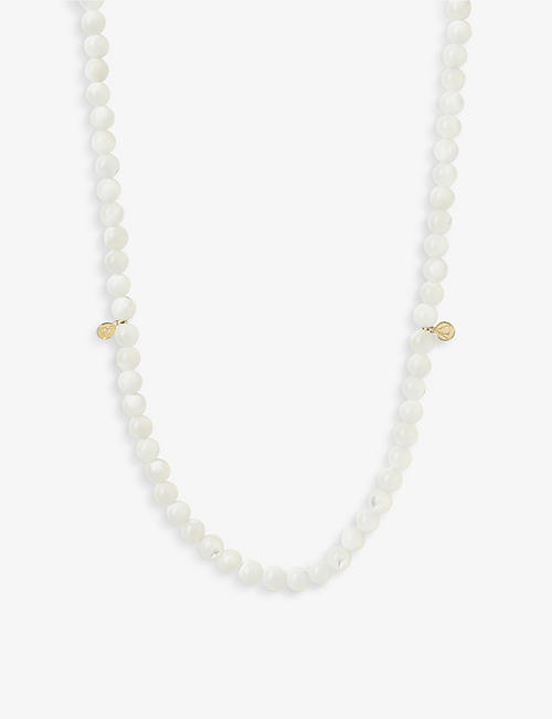 THE ALKEMISTRY: Cinta 18ct yellow-gold and Mother of Pearl necklace