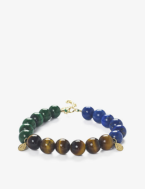 THE ALKEMISTRY: Cinta 18ct yellow gold multicolour beaded bracelet
