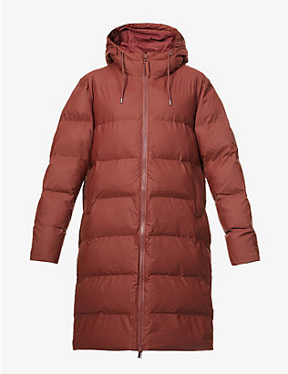 RAINS: Padded shell puffer coat